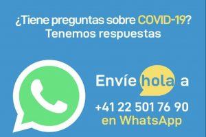 OMS lanza servicio de WhatsApp y Facebook para informar sobre Covid-19