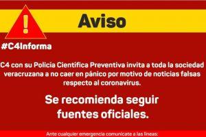 Invita Policía Cibernética de Veracruz a evitar compartir información falsa sobre coronavirus