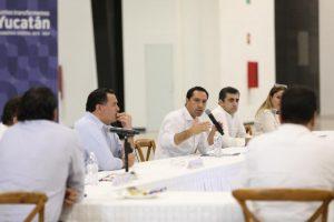 El Gobernador Mauricio Vila Dosal pide a los empresarios yucatecos no despedir empleados ante contingencia por el coronavirus Covid-19