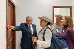 Censa el INEGI a AMLO en departamento de Palacio Nacional