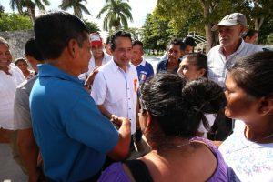 Más de 17.2 millones de pesos destinó Carlos Joaquín para el mejoramiento urbano de 10 comunidades rurales