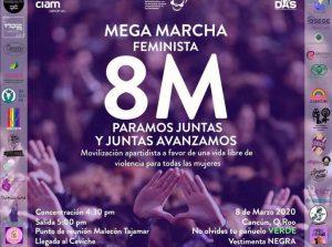 La marcha feminista hoy en Cancún: Protestarán mujeres contra la violencia de género desde Malecón Tajamar hasta el Ceviche