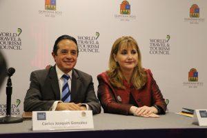La Cumbre Mundial de Turismo se hará en octubre próximo en Cancún: Carlos Joaquín