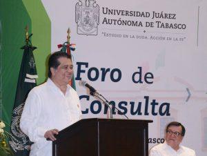 Se acabaron las recomendaciones y entrada a la UJAT sin merecimiento: Guillermo Narvaez Osorio