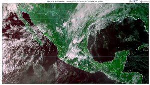 En las próximas horas se prevén chubascos con posibles granizadas en el centro y el occidente de México