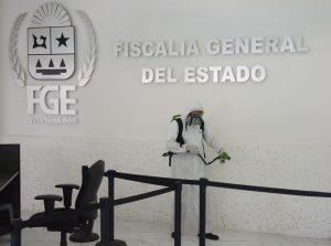 Refuerza FGE las acciones de sanitización en sus instalaciones
