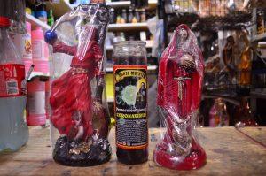 Nueva veladora de la Santa Muerte, contra el coronavirus, se vende en Tabasco con mucho éxito