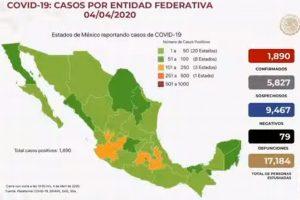 Suman 79 muertes por COVID-19 en México; hay 1,890 casos confirmados y 5,827 sospechosos: Hugo López