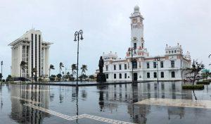 Rachas del norte alcanzaron alrededor de 95 km/hora; podrían continuar lluvias en Veracruz