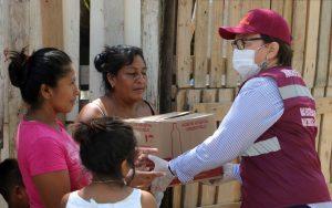 Más de veinte mil apoyos alimentarios se han entregado a familias solidarenses: Laura Beristain