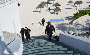 Confirman siete casos de policías de Cancún con Covid-19
