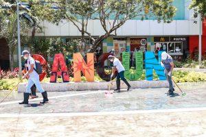 Intensifica Mara Lezama medidas de higiene en vía pública de Benito Juárez, Cancún