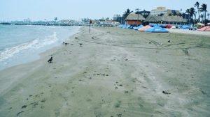 Sábado de Gloria y las playas de Veracruz por fin lucen vacías