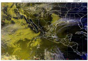 Persistirá la onda de calor en la Península de Yucatán, el occidente, el centro, el oriente, el sur y el sureste del país