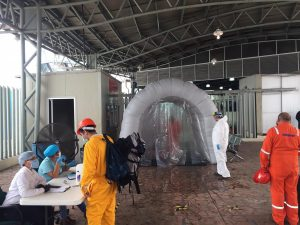 Para aminorar contagios por COVID19, Pemex aplica protocolo de desembarque de trabajadores en plataformas en Ciudad del Carmen