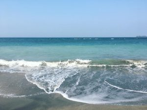 Playas de Veracruz se pintan de azul turquesa en esta cuarentena