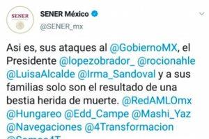 Usan cuenta de Twitter de la Secretaría de Energía para defender gobierno de AMLO