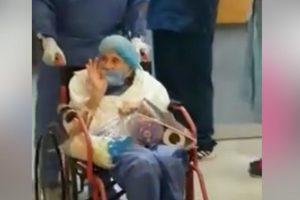 Abuelita de 90 años vence al COVID-19 en Veracruz