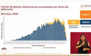 Hay 783 muertes por confirmar si fueron por COVID-19 y 36,131 casos sospechosos