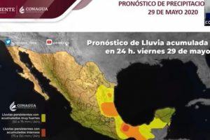 Se pronostica temporal lluvioso en Veracruz, Tabasco, Chiapas y Oaxaca: Servicio Meteorológico Nacional