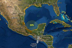 Baja presión en el Golfo de México con probabilidad de 20% de evolucionar a ciclón tropical