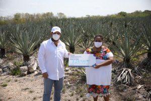 Gobierno de Yucatán otorga apoyos extraordinarios por 2.5 millones de pesos a productores henequeneros