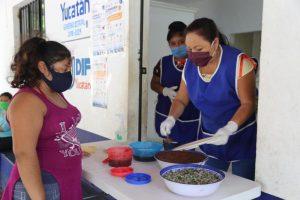 Espacios de Alimentación continúan beneficiando a familias yucatecas