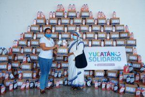 Muestras de generosidad han permitido que el programa Yucatán Solidario beneficie a familias yucatecas