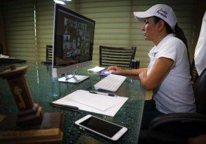 El trabajo en equipo es garantía de éxito en Puerto Morelos: Laura Fernández