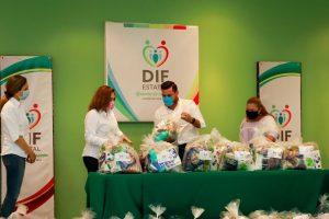 SEDESYH apoya al DIF Campeche para llevar despensas a familias vulnerables