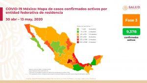 Suman 4,220 muertes por COVID-19 en México; hay 40,186 casos positivos