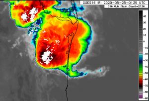 Alertan de turbonada que podría afectar límites entre Tamaulipas y Veracruz