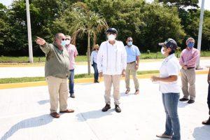 Supervisa el Gobernador Adán Augusto avance de construcción del Boulevard en Comalcalco
