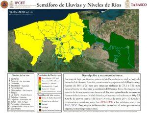 Pronostican cuatro días de lluvias intensas en Tabasco