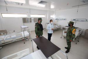 Supervisa el gobernador Carlos Joaquín hospitales reconvertidos para pacientes con covid-19