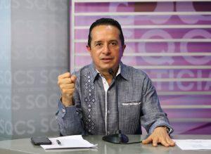A partir de los primeros días de junio se podría tener una recuperación gradual en Quintana Roo: Carlos Joaquín
