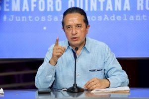 De forma gradual, Quintana Roo reanuda actividades con semáforo rojo en el sur y con semáforo naranja en el norte, del 8 al 14 de junio: Carlos Joaquín