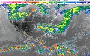 Se prevén lluvias muy fuertes con descargas eléctricas, granizadas y rachas de viento en Guerrero, Michoacán y Oaxaca