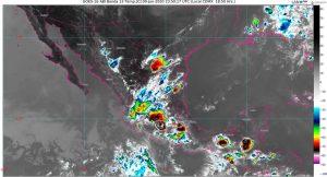 Se pronostican lluvias, vientos, granizadas y posible formación de torbellinos o tornados en Coahuila, Nuevo León y Tamaulipas