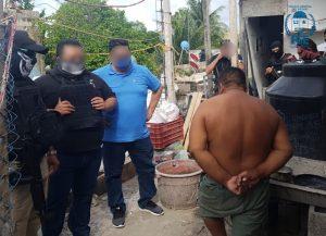 Una persona detenida y droga asegurada fue el resultado de un cateo realizado por la personal de la FGE