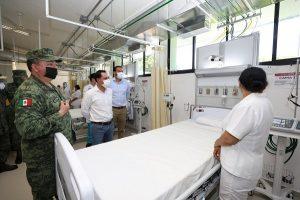 Nueva Unidad Operativa de Terapia Intensiva para pacientes con Coronavirus en la X Región Militar en Yucatán