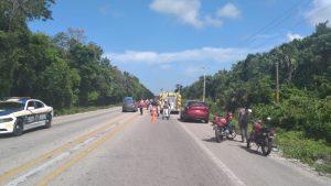 Se desploma avioneta en la avenida Huayacan de Cancún