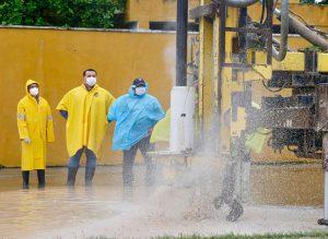 Construyen de manera emergente 190 pozos profundos para evitar mayores encharcamientos en Mérida