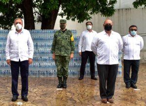 Grupo Modelo dona agua purificada al Gobierno del Estado de Campeche
