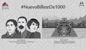 Revela Banxico cómo será el billete de mil pesos