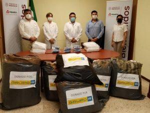 Entrega Pemex insumos médicos al personal de salud en Carmen, Campeche