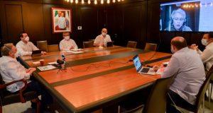 El gobernador de Campeche evalúa con Segob avances de la reactivación económica