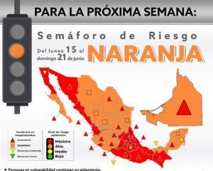Campeche, en semáforo naranja a partir de la próxima semana