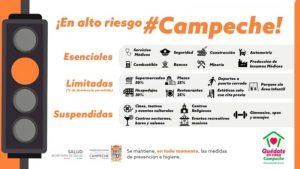 """Campeche se mantiene en """"Semáforo Naranja"""", Uso de cubrebocas es obligatorio"""