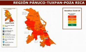 Poza Rica y Tuxpan, en semáforo rojo por COVID-19